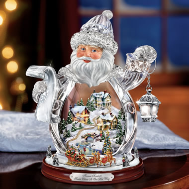 The Thomas Kinkade Crystal Santa Claus