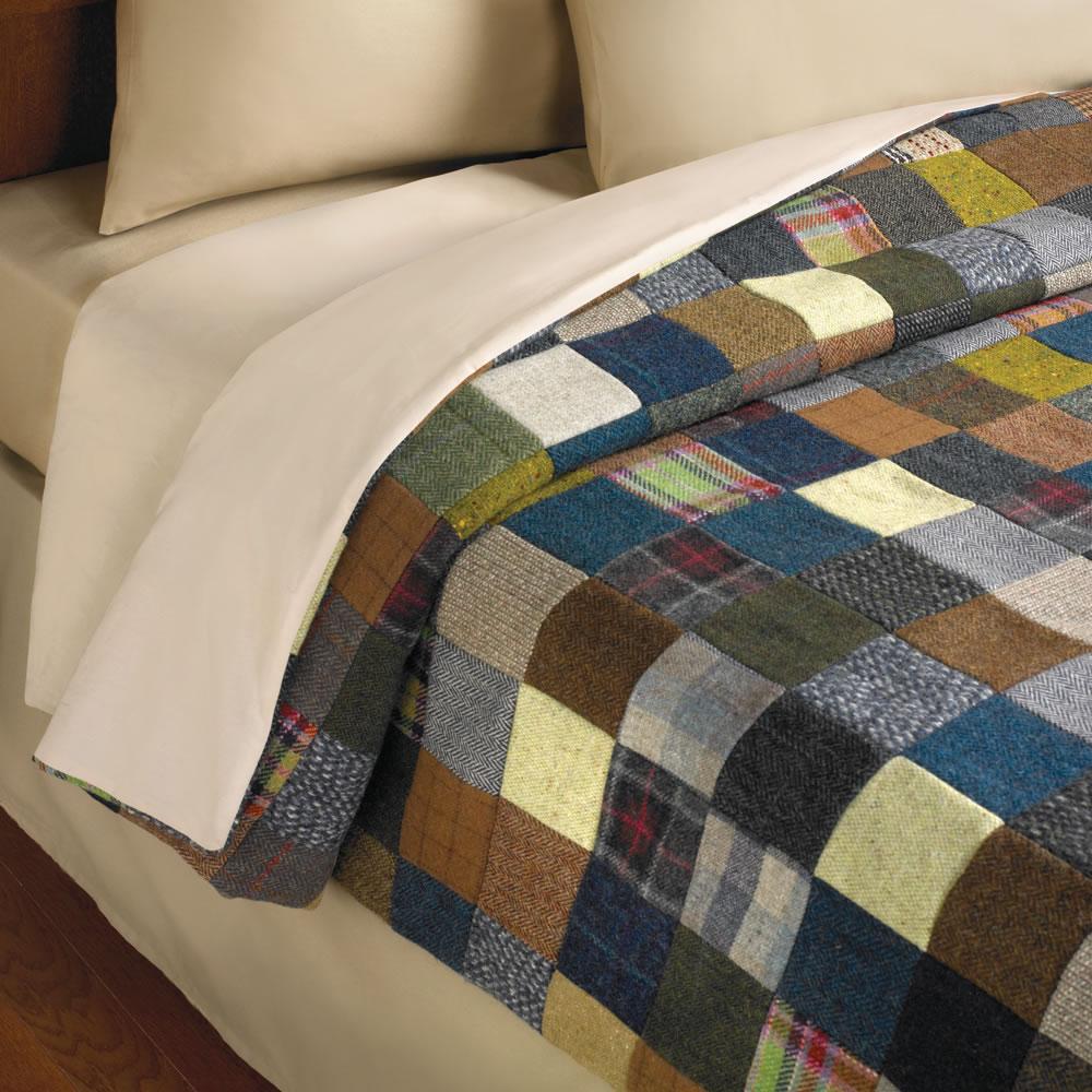 The Genuine Irish Tweed Patchwork Quilt - Hammacher Schlemmer : quilted patchwork bedspreads - Adamdwight.com