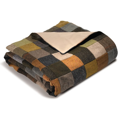 The Genuine Irish Tweed Patchwork Throw