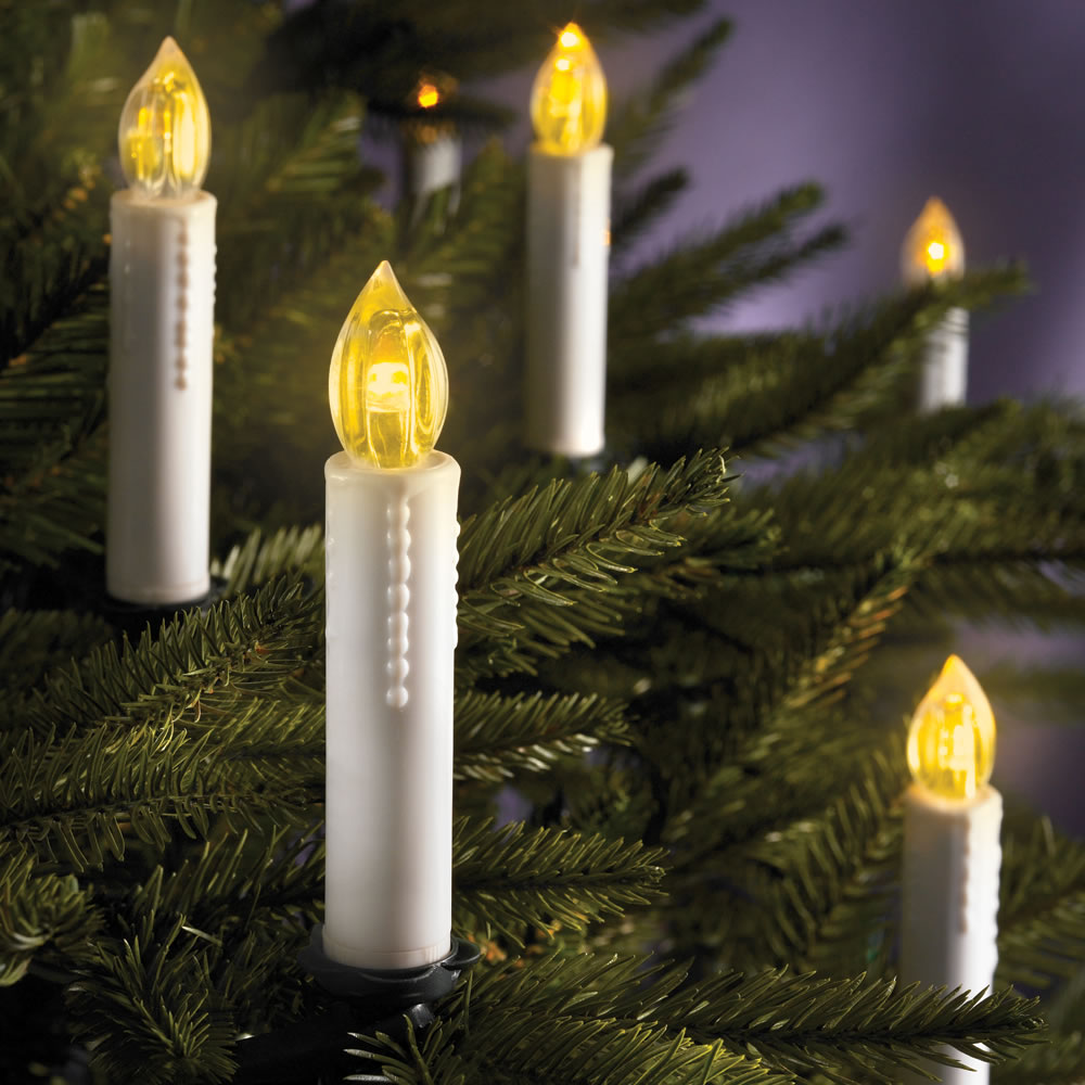 The Cordless Christmas Tree Candles Hammacher Schlemmer