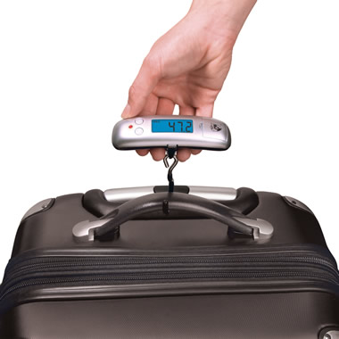 The World's Smallest Luggage Scale.