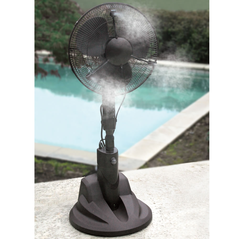 Indoor Misting Fan : The evaporative misting fan hammacher schlemmer