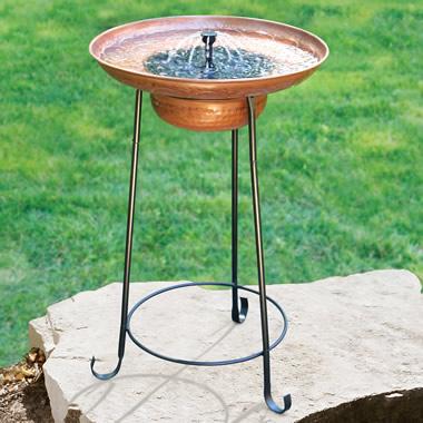 The Solar Fountain Birdbath