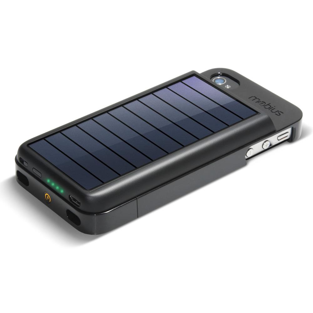 on sale f50db 2ec01 The Solar iPhone Battery - Hammacher Schlemmer