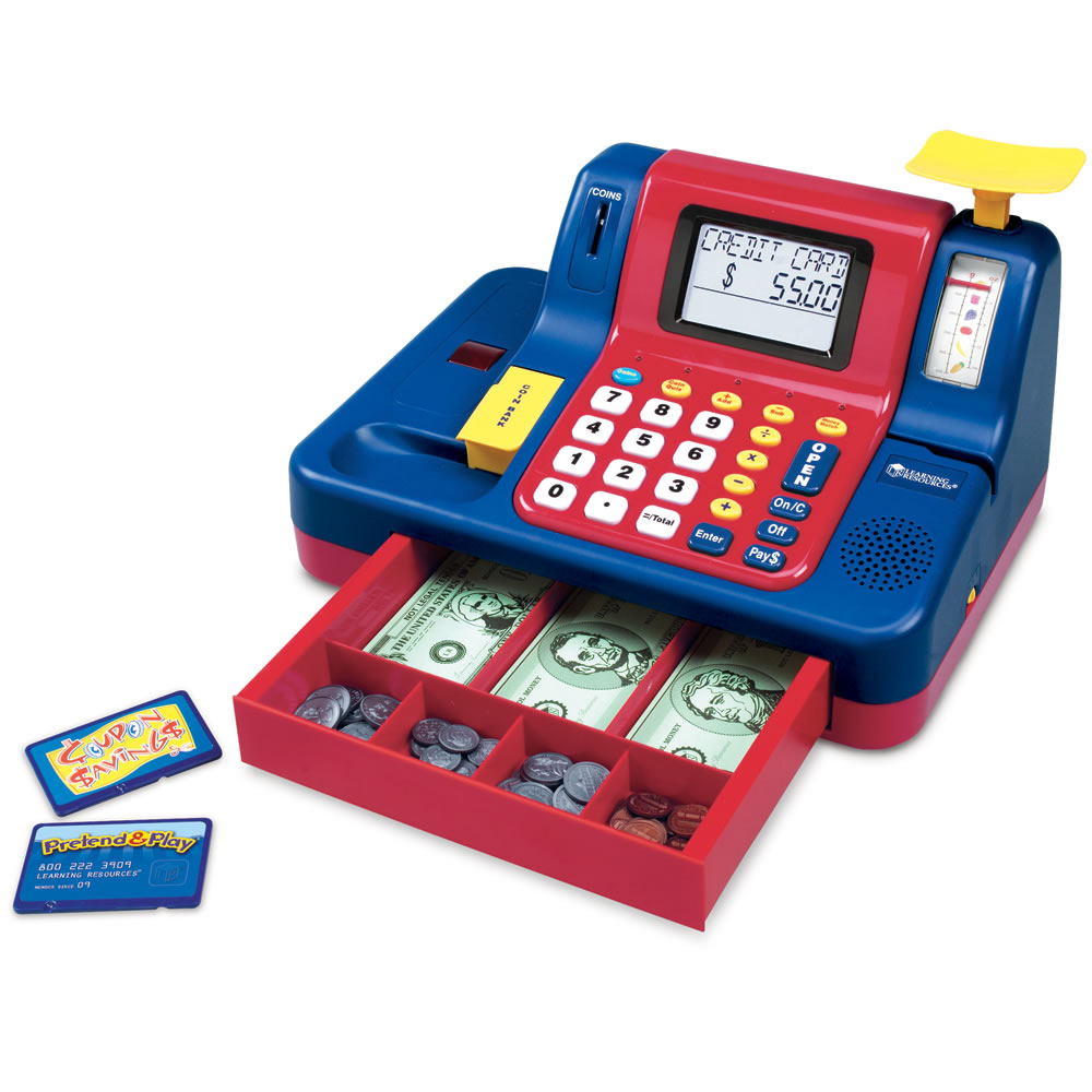 Toy Cash Register With Scanner : The best children s cash register hammacher schlemmer