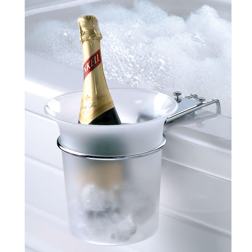 The Bathtub Champagne Chiller Hammacher Schlemmer
