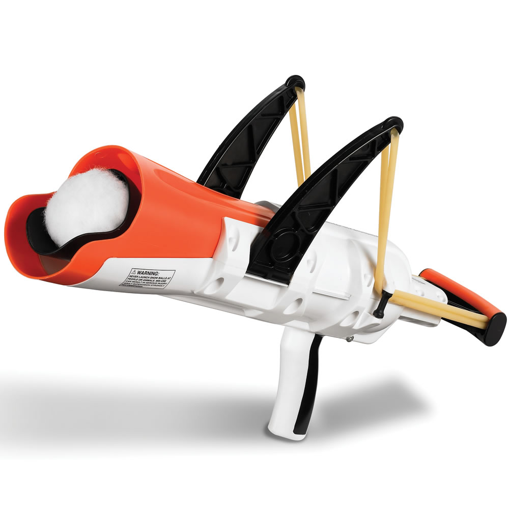 The Snowball Slingshot Hammacher Schlemmer
