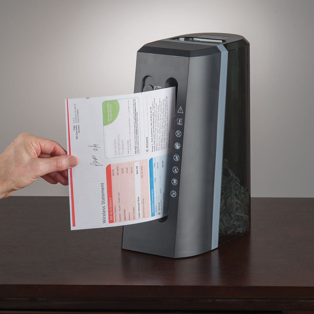 The Space Saving Desktop Shredder - Hammacher Schlemmer