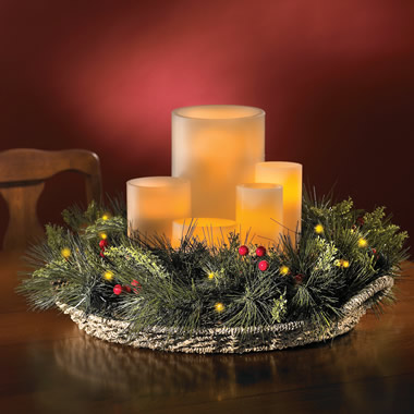 The Remote Controlled Prelit Holiday Centerpiece