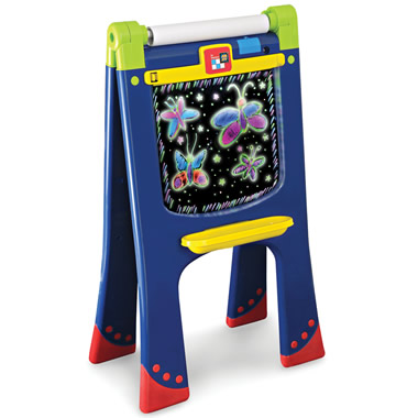 The Wipe Off Fluorescent Art Easel