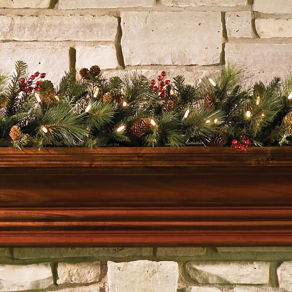 The decorated cordless prelit holiday 6 garland hammacher schlemmer the decorated cordless prelit holiday 6 garland aloadofball Gallery