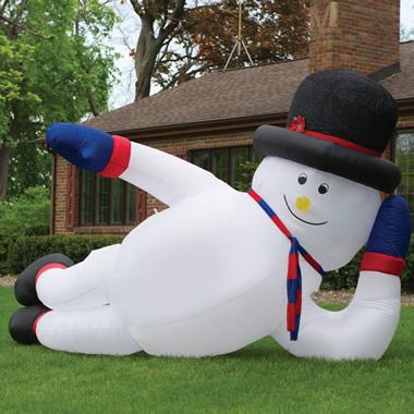 The 12' Sprawling Snowman.