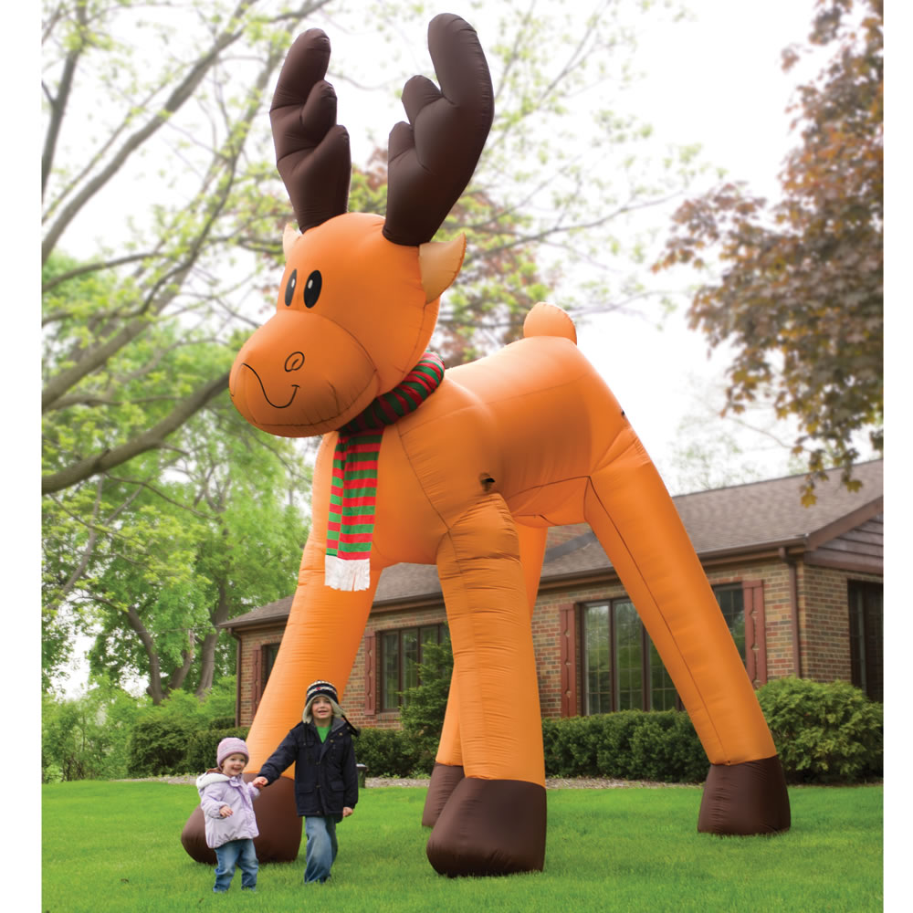 Elegant The Two Story Inflatable Reindeer.