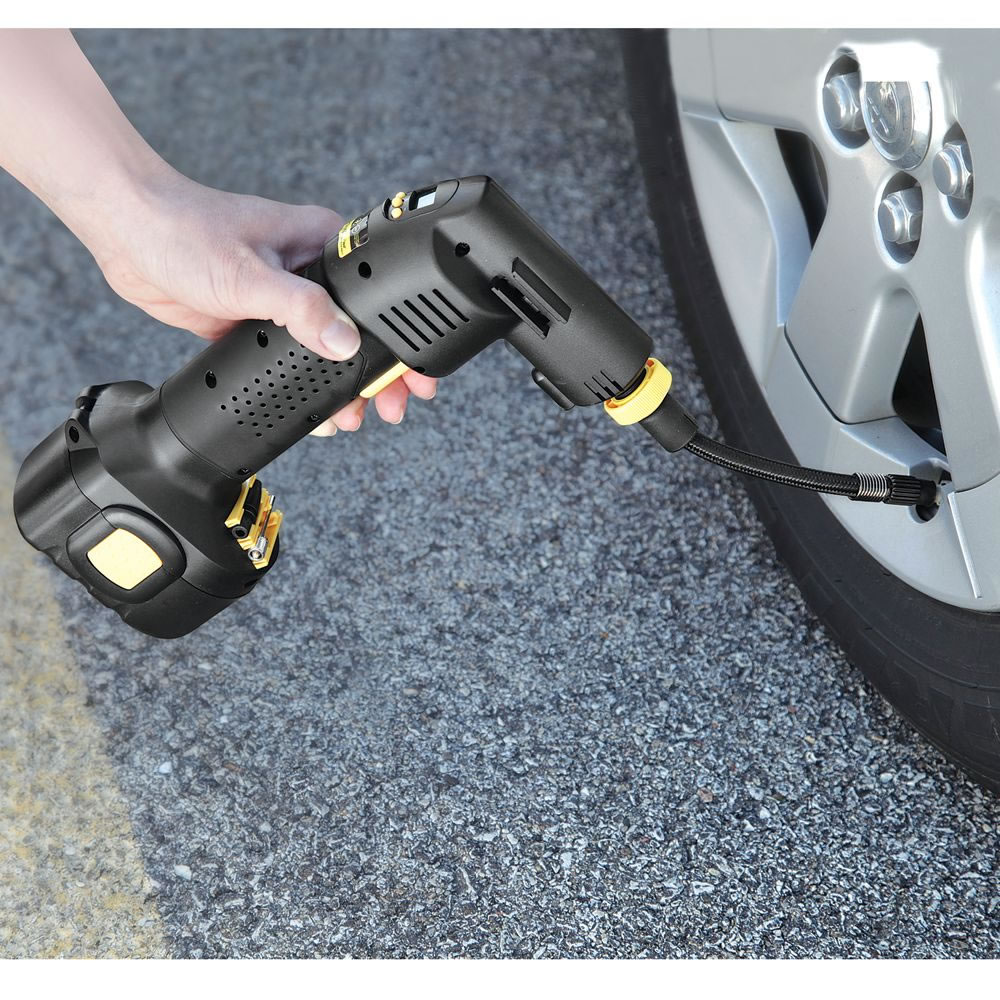 Cordless Tire Inflator >> The Automatic Cordless Tire Inflator - Hammacher Schlemmer