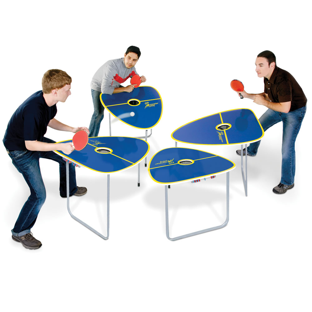 The quad table tennis game hammacher schlemmer for Table tennis