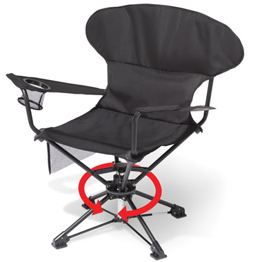 The Only Swiveling Portable Chair