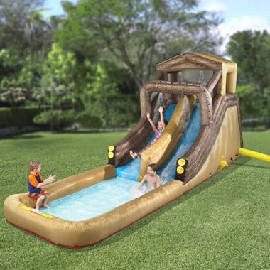 The Inflatable Backyard Log Flume.