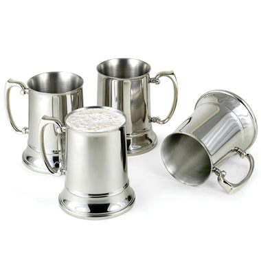 The Cold Maintaining Stainless Steel Beer Steins