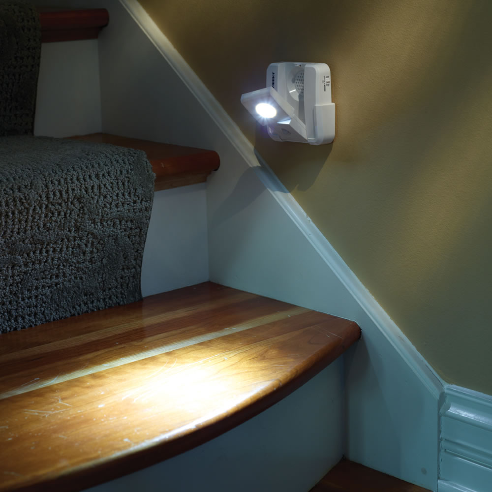 The Perfect Position Motion Sensing Staircase Lights   Hammacher Schlemmer