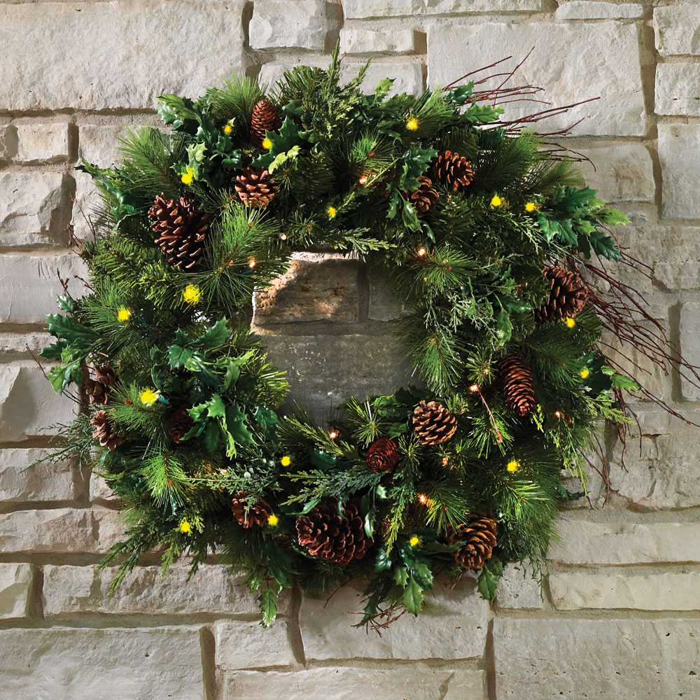 Christmas Tree Life Extender: The Mixed Bough Prelit Juniper Holiday Trim (Wreath