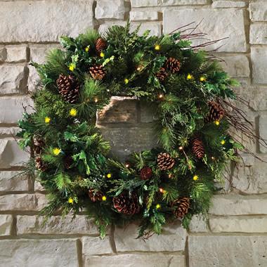 The Mixed Bough Prelit Juniper Holiday Trim (Wreath)