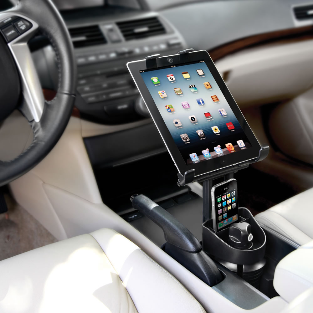 The Automobile Ipad Cupholder Mount Hammacher Schlemmer