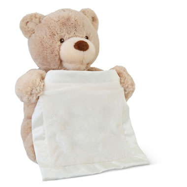The Peek-A-Boo Animated Bear - Bear coving eyes with blanket