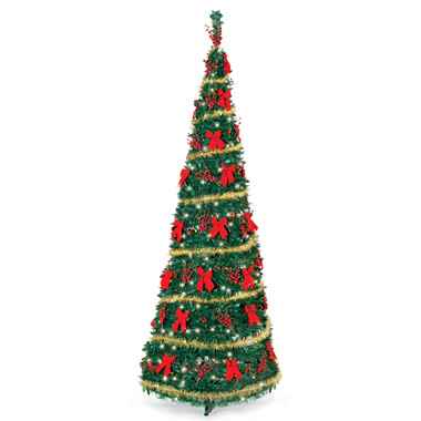 The Cordless Prelit Pop Up Christmas Tree (9').
