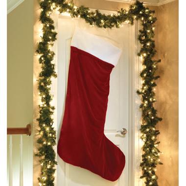 The Brobdingnagian Velvet Christmas Stocking