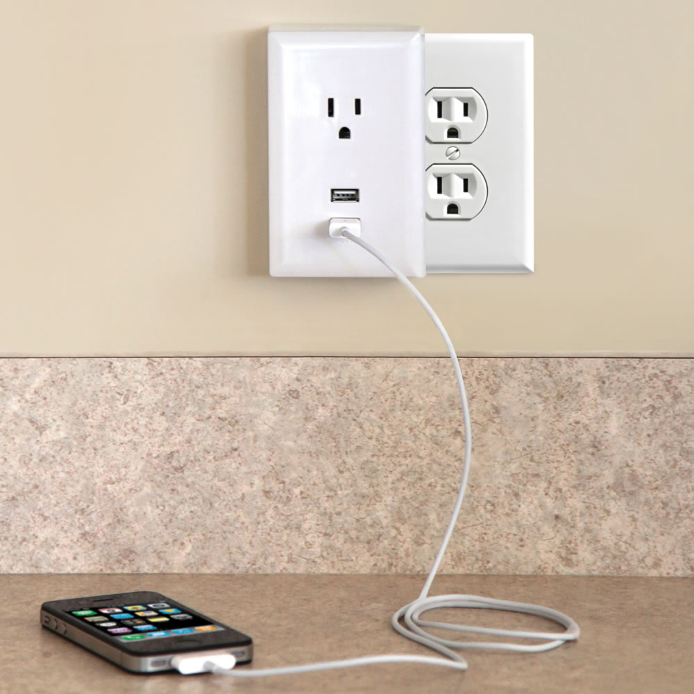 The Plug In Usb Wall Outlets Hammacher Schlemmer