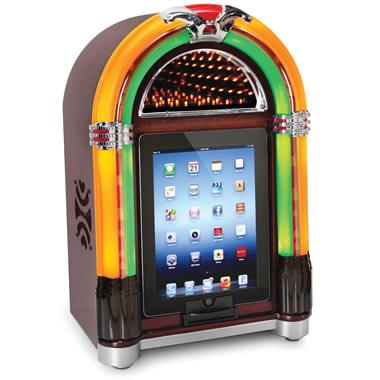 The iPad Tabletop Jukebox.