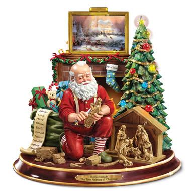 The Thomas Kinkade Woodcarving Santa