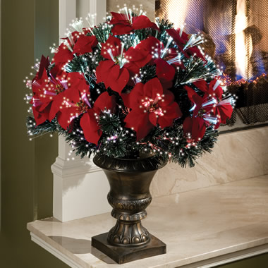 The 2' Fiber Optic Tabletop Poinsettia Bush
