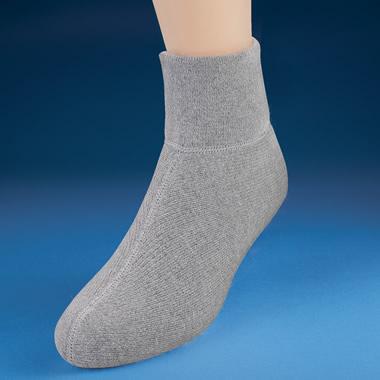 The Genuine Angora Bed Socks (Gray).