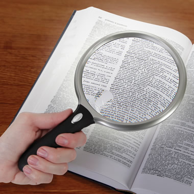 The Wide View Lighted Magnifier.