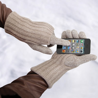 The Touchscreen Cashmere Gloves