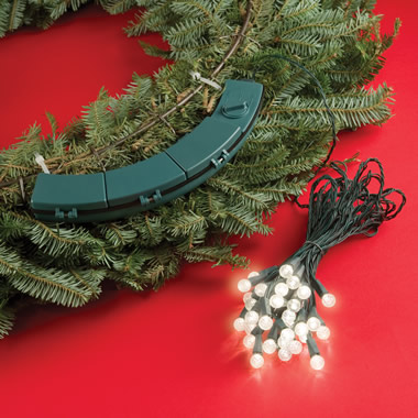 The Cordless Contoured Wreath Lights