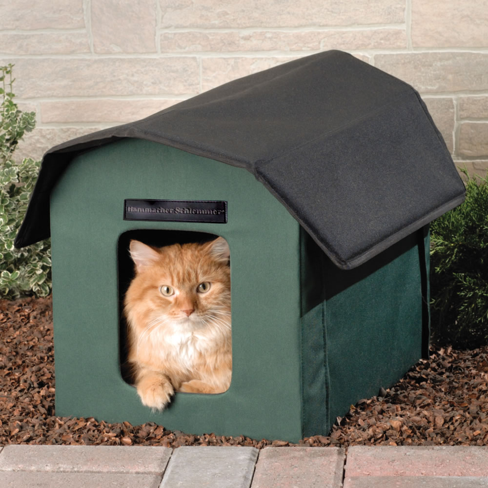 Outdoor Heated Cat Shelter Hammacher Schlemmer