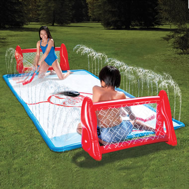 The Water Soaked Knee Hockey Rink