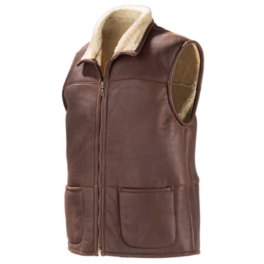 The Genuine Shearling Bomber Vest