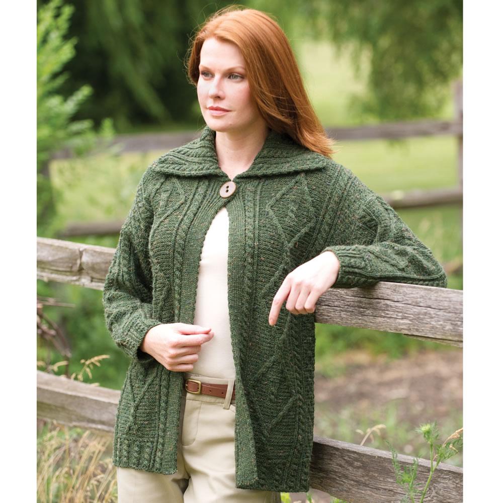 The Lady's Irish Sweater Coat - Hammacher Schlemmer