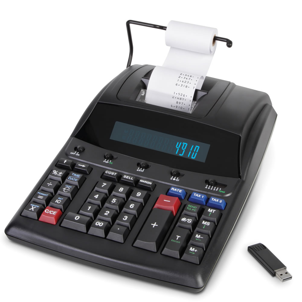 The Transfer To PC Adding Machine - Hammacher Schlemmer