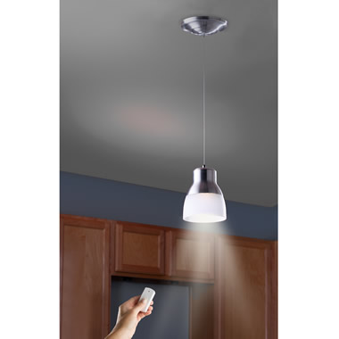 The Battery Powered LED Pendant Light.