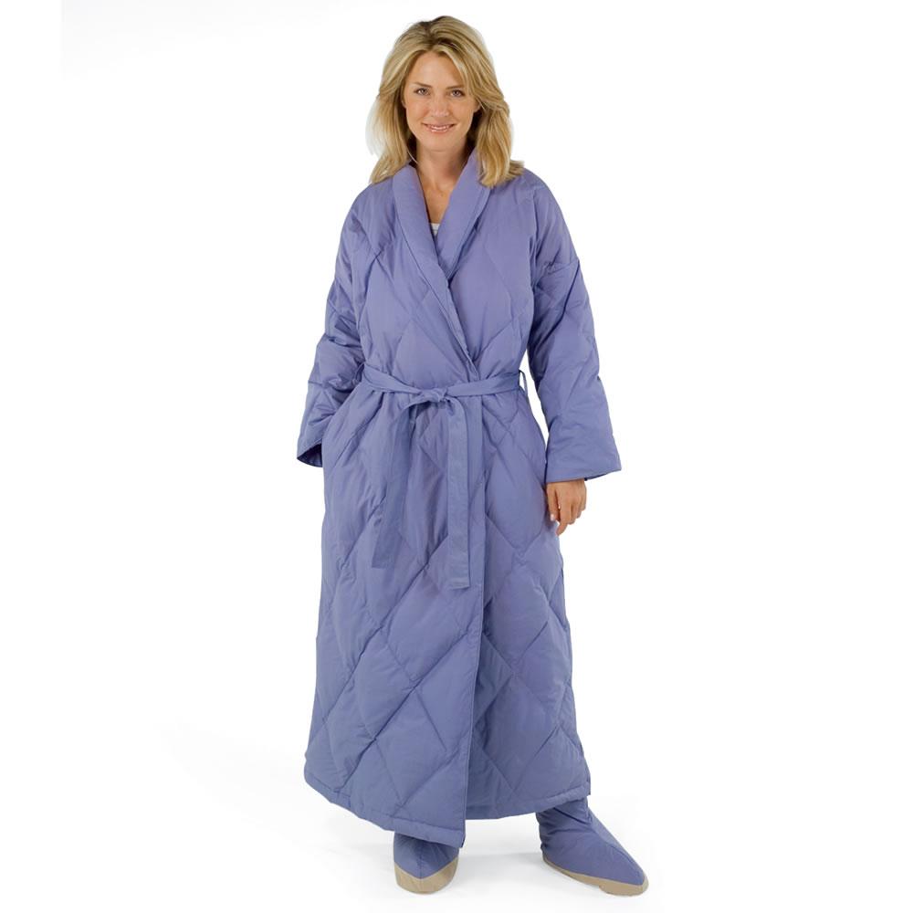 The Quilted Down Robe - Hammacher Schlemmer : quilted robe - Adamdwight.com