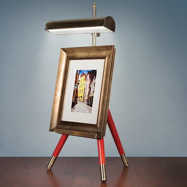 The Cordless Tabletop Lighted Easel.