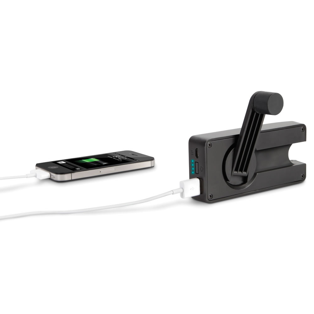 The Hand Crank Emergency Cell Phone Charger Hammacher