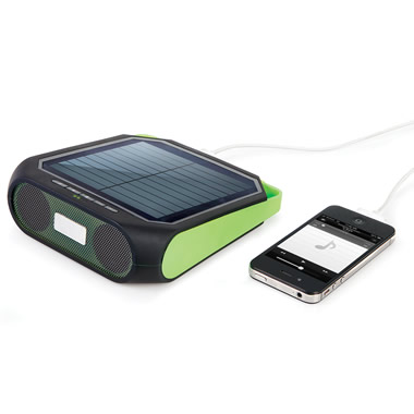 The Portable Solar Powered Speaker