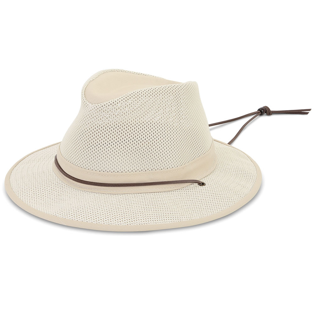 9fced6d0e9630 The Lady s Ventilated Brimmed Hat - Hammacher Schlemmer