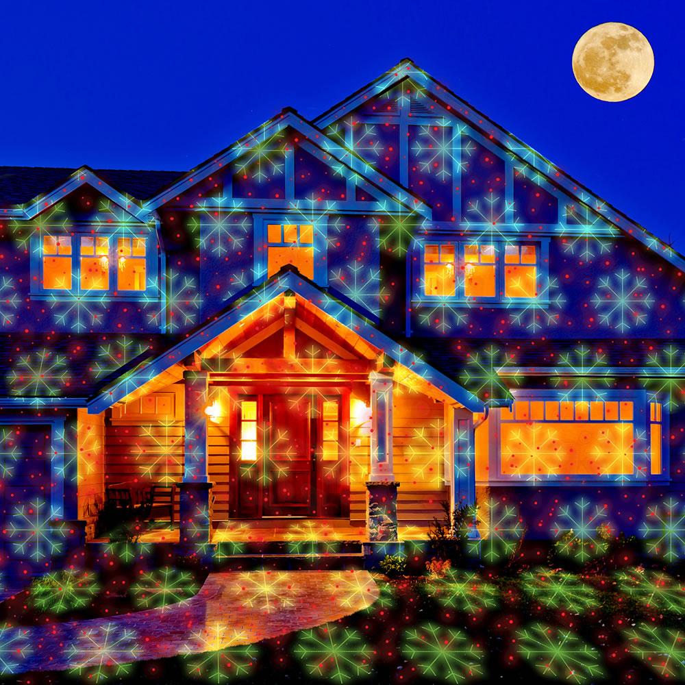 the virtual christmas display laser light projector - Christmas Motion Lights