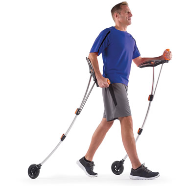 The Wheeled Nordic Walking Poles